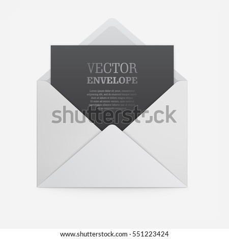 blank template white paper envelope empty stock vector royalty free