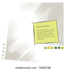 Blank text attractive background texture (simple chalk technique, textured grunge vector)