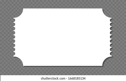 Blank ticket template. Concert ticket, lottery coupons. Vector coupon - stock vector.