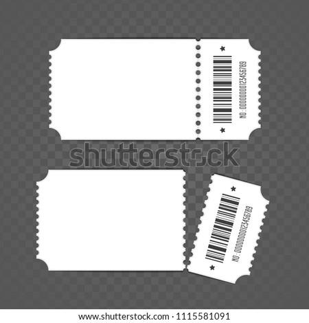 blank ticket template retro cinema ticket stock vector royalty free