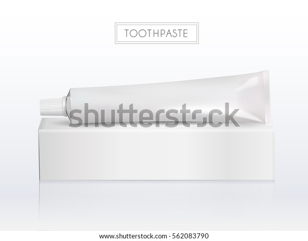 Blank Toothpaste Tube Paper Box Without Stock Vector Royalty Free 562083790