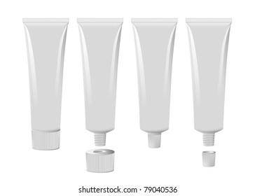 Blank toothpaste tube set eps8