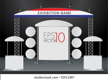 Blank trade exhibition and Promotion Stand. vector template for design work