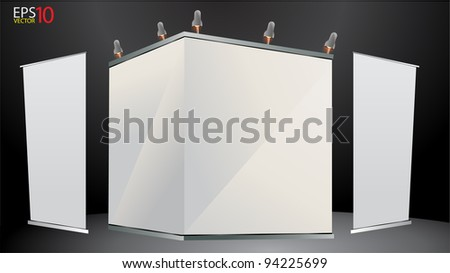 Exhibition Stand Banner : Blank trade exhibition stand banner stand stock vector royalty