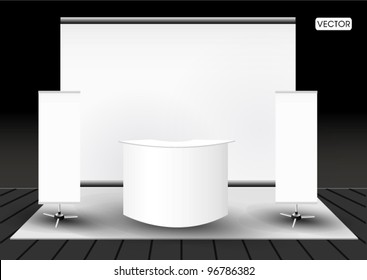 Blank trade exhibition stand booth