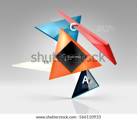 blank triangle layout business template infographic stock vector