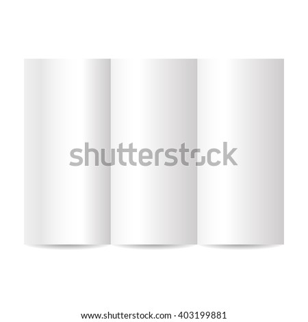 blank tri fold brochure template stock vector royalty free