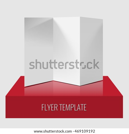 blank trifold paper brochure flyer realistic stock vector royalty