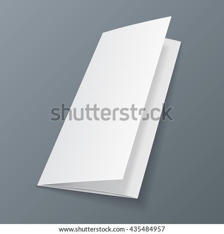 Blank Trifold Paper Leaflet Mock Template Stock Vector Royalty Free