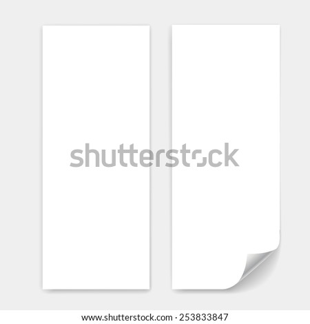 blank trifold paper sheet vector page stock vector royalty free