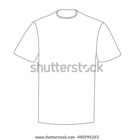 Blank Tshirt Design Template Tshirt Print Stock Vector Royalty Free