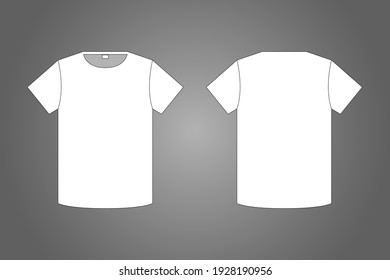 Blank t-shirt front and back view design.