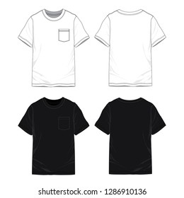 Blank T-shirt with pockets