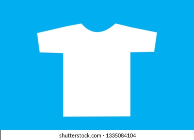 Blank t-shirt template. Front