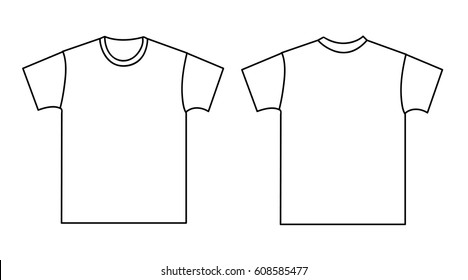 Blank Tshirt Template Front Back Stock Photo (Photo, Vector ...