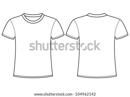 blank tshirt template front back のベクター画像素材 ロイヤリティ