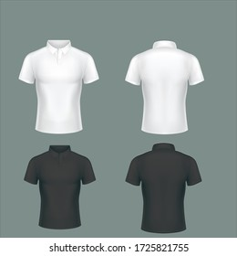 Blank T-shirt template. Solid color easy to change