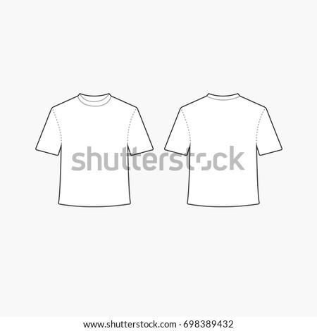Blank Tshirt Template | Blank Tshirt Template Vector Stock Vektorgrafik Lizenzfrei