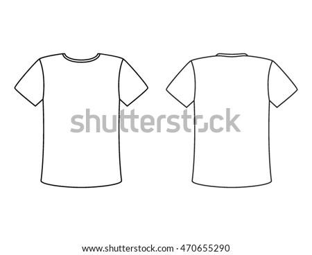 Blank Tshirt Vector Template Simple White Stock-Vektorgrafik ...