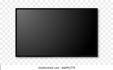 Blank tv screen vector design. Digital wide television concept. Vector flat led or lcd screen mockup.