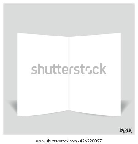 blank twoleaf brochures blank bifold paper stock vector royalty