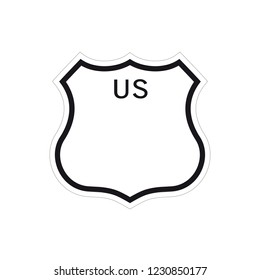 Blank US road sign - VECTOR EPS 10