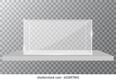 Blank vector aquarium on a checkered background, vector illustration