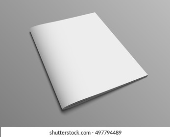 Blank vector catalog or brochure cover mock up.