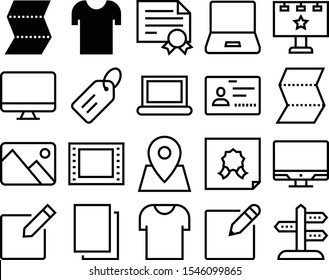 blank vector icon set such as: guidepost, border, signpost, badge, map, art, logo, home, poster, cinema, id, pencil, sale, pen, mm, letterpress, personal, ad, 35mm, commercial, label, clean, location