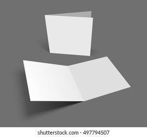 Blank vector illustration square greeting card on dark gray