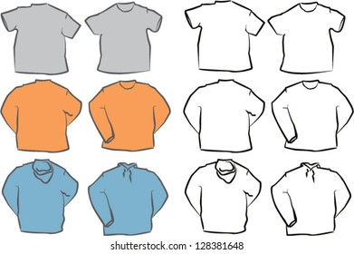 Blank Vector Shirt Templates