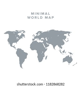 Blank vector world map. Isolated on clean  background. World map vector, isolated on white background. Flat Earth, map template for web site pattern, anual report, inphographics. Globe similar
