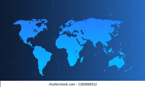 Blank vector world map. Isolated on gradient background. World map vector, isolated on white background. Flat Earth, gray map template for web site pattern, anual report, inphographics. Globe similar