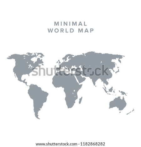 Blank vector world map isolated on stock vector royalty free blank vector world map isolated on clean background world map vector isolated on gumiabroncs Images