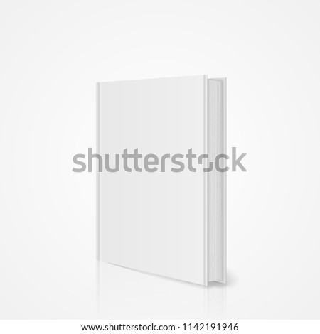 Blank Vertical Book Cover Template Pages Stock Vector (Royalty Free
