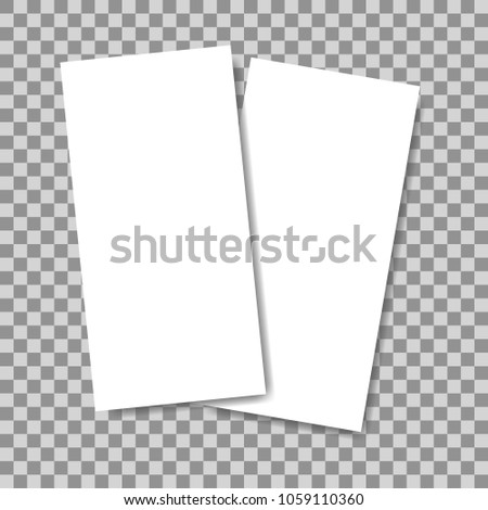 Blank Vertical Flyers Banners Mock Isolated Stock Vector