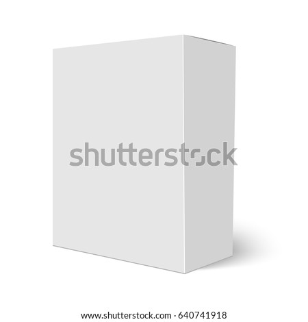 Blank vertical paper box template standing stock vector royalty blank vertical paper box template standing on white background vector illustration maxwellsz