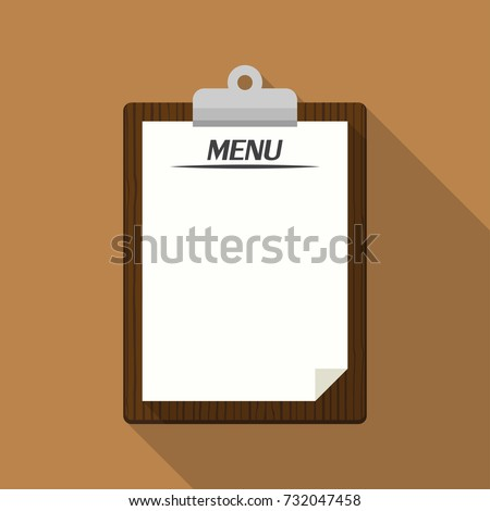 blank vintage clipboard menu restaurant template stock vector