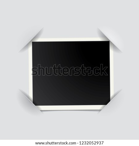 Blank Vintage Photo Frame Corners Notched Stock Vector Royalty Free