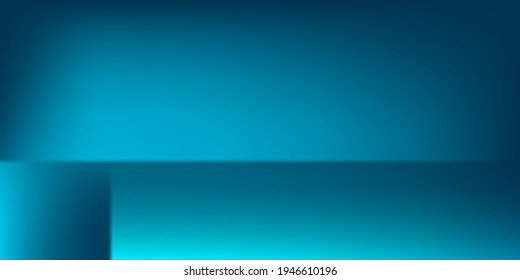 Blank Water Turquoise Smooth Watercolor Colorful Surface. Dark Aqua Sea Original Screens Background. Azure Bright Blue Vibrant Gradient Mesh Illustration. Ocean Modern Empty Smooth Surface Backdrop.