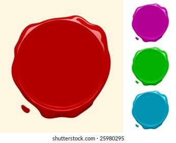 Blank wax seal collection - vector