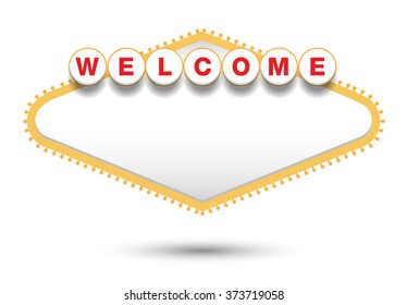 blank welcome sign vector illustrations