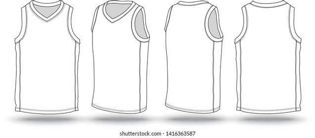 Blank White Basketball Jersey - Vector