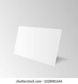 Blank business card images stock photos vectors shutterstock blank of white business card template on grey background vector wajeb Image collections