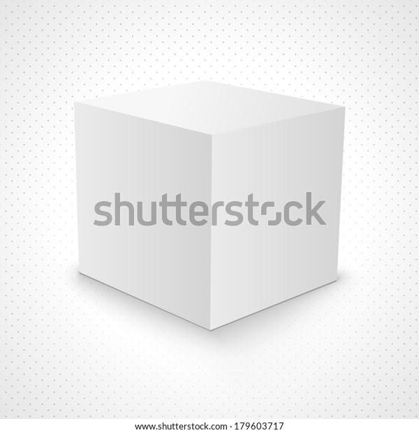 Blank White Carton 3d Box Cube Stock Vector (Royalty Free