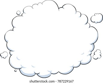 A blank white cloud with ample copyspace.