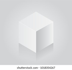 Blank white cube on white background stock vector royalty free blank white cube on white background 3d box template maxwellsz