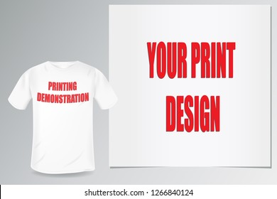blank white men's t-shirt template for showcasing print and design
