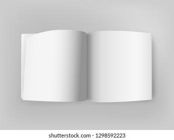 Blank white paper book vector illustration