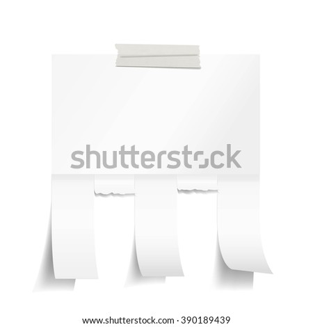 Blank White Paper Tear Off Tabs Stock Vector (Royalty Free